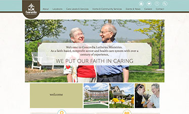 Concordia Lutheran Ministries Website Design