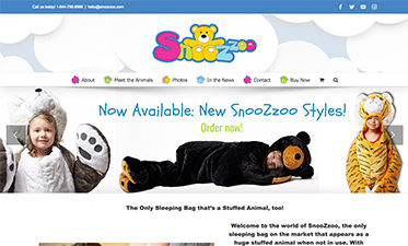Snoozzoo Website Design