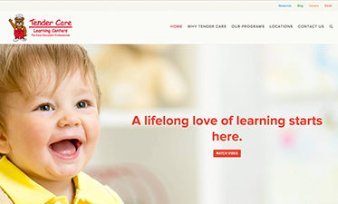 Tendercare Learning Centers Website