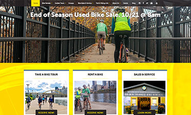 Golden Triangle Bike Website Design